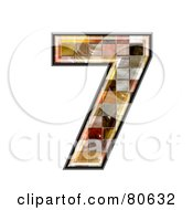 Ceramic Tile Symbol Number 7 by chrisroll