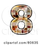 Royalty Free RF Clipart Illustration Of A Grunge Texture Symbol Number 8
