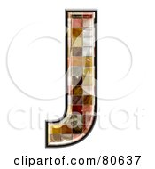 Ceramic Tile Symbol Capitol Letter J by chrisroll
