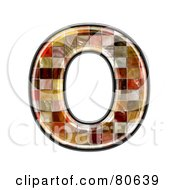 Grunge Texture Symbol Capitol Letter O