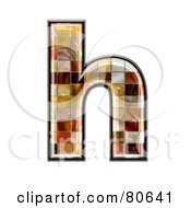 Ceramic Tile Symbol Lowercase Letter H by chrisroll
