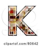 Grunge Texture Symbol Capitol Letter K