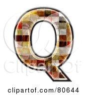 Grunge Texture Symbol Capitol Letter Q