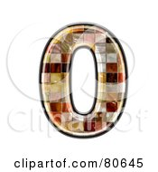 Royalty Free RF Clipart Illustration Of A Grunge Texture Symbol Number 0