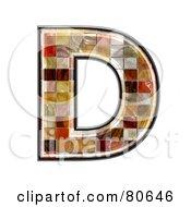 Grunge Texture Symbol Capitol Letter D