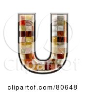 Ceramic Tile Symbol Capitol Letter U by chrisroll
