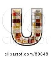 Grunge Texture Symbol Capitol Letter U