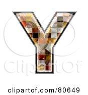 Grunge Texture Symbol Capitol Letter Y