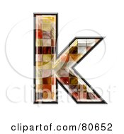 Ceramic Tile Symbol Lowercase Letter K by chrisroll