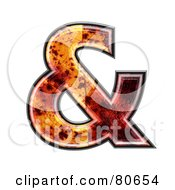 Royalty Free RF Clipart Illustration Of An Autumn Leaf Texture Symbol Ampersand