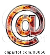 Autumn Leaf Texture Symbol Arobase