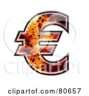 Royalty Free RF Clipart Illustration Of An Autumn Leaf Texture Symbol Euro by chrisroll