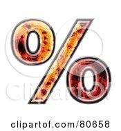 Royalty Free RF Clipart Illustration Of An Autumn Leaf Texture Symbol Percent