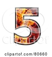 Royalty Free RF Clipart Illustration Of An Autumn Leaf Texture Symbol Number 5