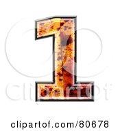 Autumn Leaf Texture Symbol Number 1