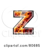 Autumn Leaf Texture Symbol Lowercase Letter Z by chrisroll
