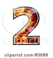 Royalty Free RF Clipart Illustration Of An Autumn Leaf Texture Symbol Number 2
