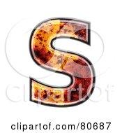 Autumn Leaf Texture Symbol Capital Letter S