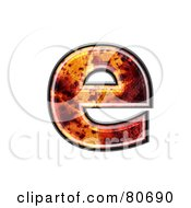 Autumn Leaf Texture Symbol Lowercase Letter E by chrisroll