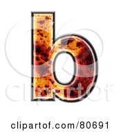 Autumn Leaf Texture Symbol Lowercase Letter B by chrisroll