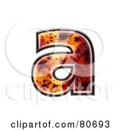 Autumn Leaf Texture Symbol Lowercase Letter A by chrisroll