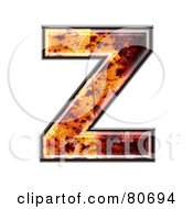 Autumn Leaf Texture Symbol Capital Letter Z by chrisroll