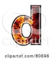 Autumn Leaf Texture Symbol Lowercase Letter D by chrisroll