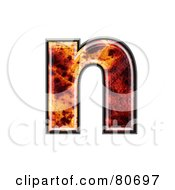 Autumn Leaf Texture Symbol Lowercase Letter N by chrisroll