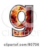 Autumn Leaf Texture Symbol Lowercase Letter G by chrisroll