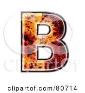 Autumn Leaf Texture Symbol Capital Letter B