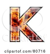 Autumn Leaf Texture Symbol Capital Letter K by chrisroll