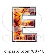 Autumn Leaf Texture Symbol Capital Letter E by chrisroll