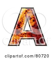 Autumn Leaf Texture Symbol Capital Letter A by chrisroll