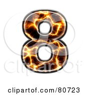 Royalty Free RF Clipart Illustration Of An Electric Symbol Number 8