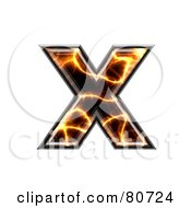 Royalty Free RF Clipart Illustration Of An Electric Symbol Lowercase Letter X by chrisroll