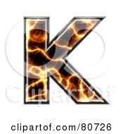 Royalty Free RF Clipart Illustration Of An Electric Symbol Capitol Letter K by chrisroll