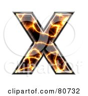 Royalty Free RF Clipart Illustration Of An Electric Symbol Capitol Letter X by chrisroll