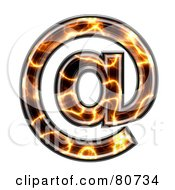 Royalty Free RF Clipart Illustration Of An Electric Symbol Arobse by chrisroll
