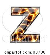 Royalty Free RF Clipart Illustration Of An Electric Symbol Capitol Letter Z by chrisroll