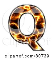 Royalty Free RF Clipart Illustration Of An Electric Symbol Capitol Letter Q by chrisroll