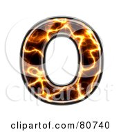 Royalty Free RF Clipart Illustration Of An Electric Symbol Capitol Letter O