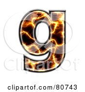 Royalty Free RF Clipart Illustration Of An Electric Symbol Lowercase Letter G by chrisroll