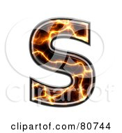 Royalty Free RF Clipart Illustration Of An Electric Symbol Capitol Letter S by chrisroll