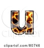 Royalty Free RF Clipart Illustration Of An Electric Symbol Lowercase Letter U by chrisroll