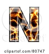Royalty Free RF Clipart Illustration Of An Electric Symbol Capitol Letter N by chrisroll