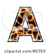 Electric Symbol Capitol Letter A by chrisroll