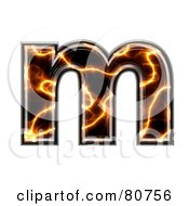 Electric Symbol Lowercase Letter M by chrisroll