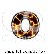 Royalty Free RF Clipart Illustration Of An Electric Symbol Lowercase Letter O