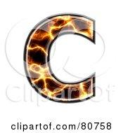 Electric Symbol Capitol Letter C by chrisroll