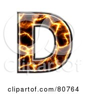 Electric Symbol Capitol Letter D by chrisroll